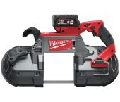 Milwaukee M18 CBS 125-502C Scie à ruban à batteries 18V Li-Ion set (2x batterie 5Ah) dans coffret - 125x125mm - moteur sans charbon - 4933448195