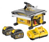 DeWalt DCS7485T2 Scie à table à batteries 18V/54V Li-Ion XR FlexVolt set (2x batterie 6,0Ah) - 210mm - moteur sans charbon - DCS7485T2-QW