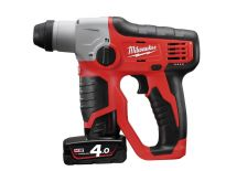 Milwaukee M12 H-402C Perforateur SDS-plus à batteries 12V Li-Ion set (2x batterie 4.0Ah) dans coffret - 0,9J - 4933441164