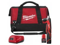 Milwaukee C12 RAD-202B Perceuse visseuse d'angle à batteries 12V Li-Ion set (2x batterie 2.0Ah) dans sac - 4933441215