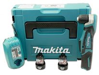 Makita DA331DWJ Perceuse visseuse d'angle à batteries 10,8V Li-Ion set (2x batterie 1.3Ah) in MAKPAC