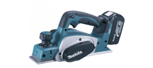 Makita DKP180RFJ Rabot à batteries 18V Li-Ion set (2x batterie 3.0Ah) dans MAKPAC - 82mm